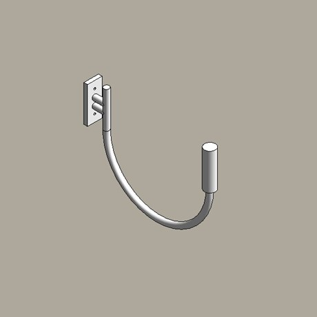 Steel street lighting brackets - curved arm