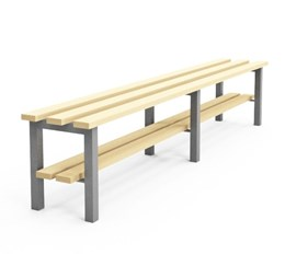 Cloakroom/Changing Room Bench with shoe rack - N1S