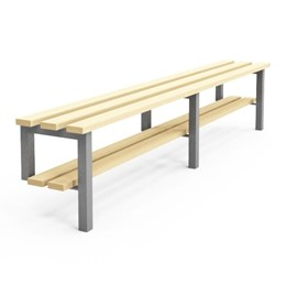Cloakroom/Changing Room Bench with shoe rack - R1S (wall/floor fix)