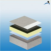 KEMPEROL® V210 - warm roof system (STRATEX), fully reinforced, liquid applied waterproofing system