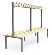 Double Sided Cloakroom/Changing Room Bench - H2