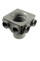 Cert PVC-U 6 Boss Soil Manifold E 110 - Soil pipe manifold