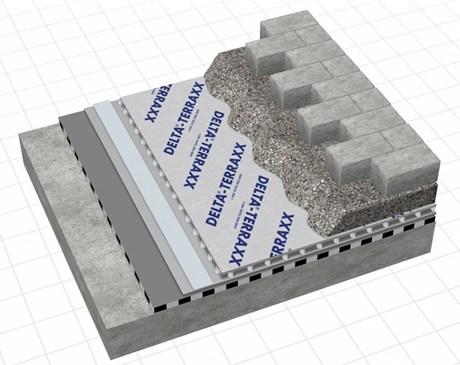 DELTA® TERRAXX in walkable roof decks