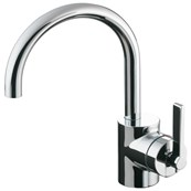 Silver Single Lever One Hole Basin Mixer