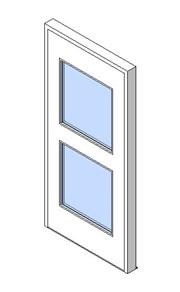 External Single Door, Vision Panel Style VP05