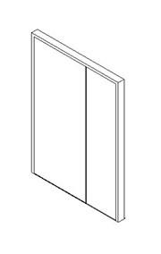 External Unequal Door, Blank Leaf