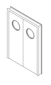 Internal Double Door, Vision Panel Style VP07