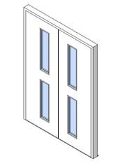 External Double Door, Vision Panel Style VP02