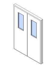 External Double Door, Vision Panel Style VP06