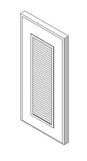 External Single Door with Louvre Panel