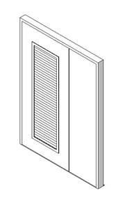 External Unequal Door with Louvre Panel