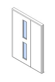 External Unequal Door, Vision Panel Style VP02