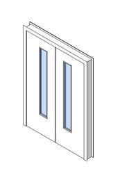 Internal Double Door, Vision Panel Style VP03