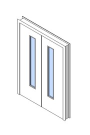 Internal Double Door, Vision Panel Style VP03