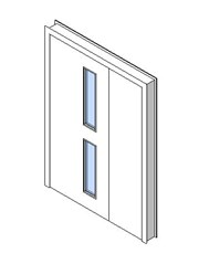 Internal Uneven Door, Vision Panel Style VP02