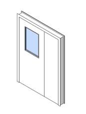 Internal Uneven Door, Vision Panel Style VP06