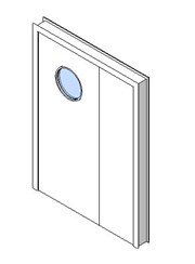 Internal Uneven Door, Vision Panel Style VP07