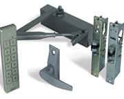 Alpro internal (access control optional) doors. -Optima980, Waterproof Keypad, Lever
