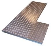 5 Bar Series tread plates (Aluminium) Duct