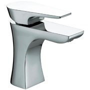 HOU BAS C - Hourglass Basin Mixer with Clicker Waste
