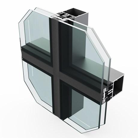 SF52 Silicone Glazed Curtain Wall System