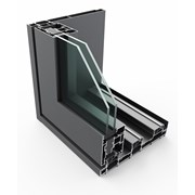 PURe® SLIDE Inline Slide Door System Single Track - OX