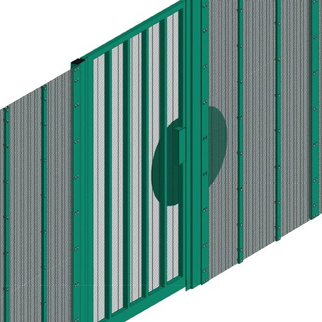 Lockmaster SR3 Single Panic Out Gate - Carbon steel gate