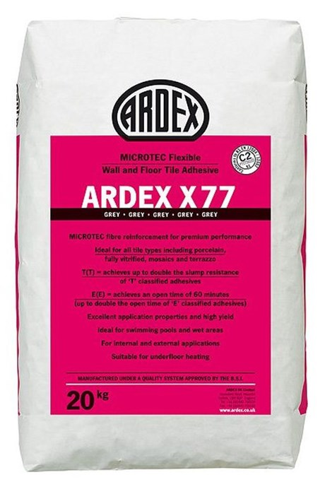 ARDEX X 77 Flexible Wall and Floor Tile Adhesive