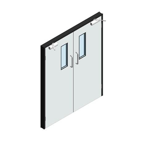 Hygienic Hinged GRP Doors - Pair (GRP Frame)