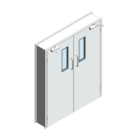 Hygienic Hinged GRP Doors - Pair (SS frame)