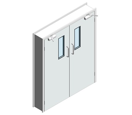 Hygienic Hinged GRP Doors - Single leaf (SS frame)