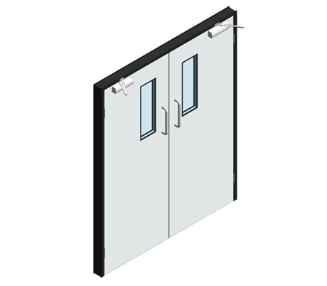 Hygienic Hinged GRP Lead Lined Doors - Pair (GRP frame)