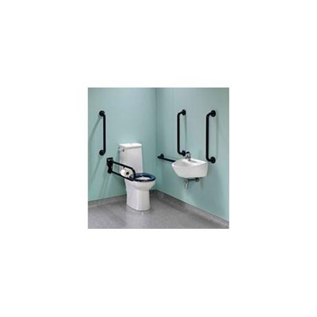 DocM Rimless Super Pack Left Hand Grab Rails & Seat - Multicolor -Accessible WC Doc M equipment packages