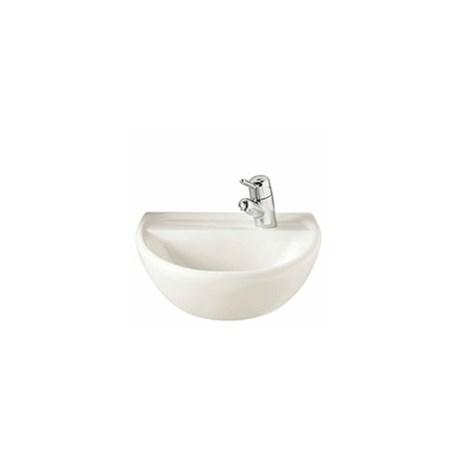 Sola Medical Washbasin 500 x 400, 1 Tap RH + Pedestals -Wall hung wash basin