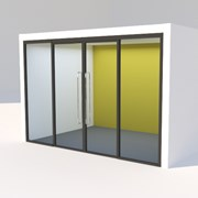 SG Edge Symmetry Door, Double Door Set, Rebated - Internal doors