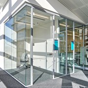 SG Axile Clarity Frameless Door On Hinges