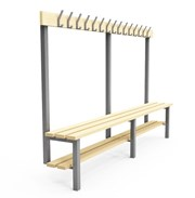 Single Sided Cloakroom/Changing Room Bench with shoe rack - K1S (wall/floor fix)