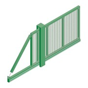 Slidemaster SR1 Single - Carbon steel gate