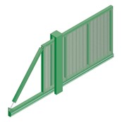 Slidemaster SR2 Single - Carbon steel gate