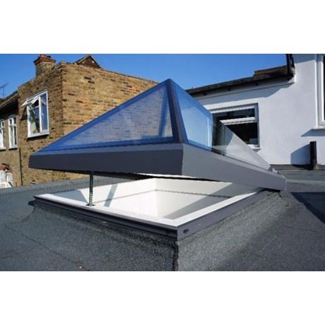 The Opening Pyramid-Lantern Skylight - Electric