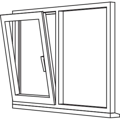 Zendow 5000 Tilt & Turn (Slim Sash) - TT2 Opener/Fixed