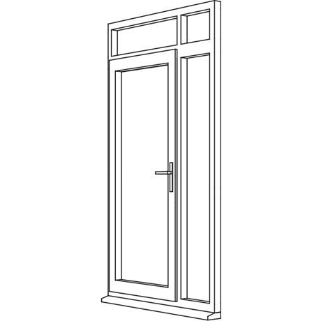 Zendow Neo Residential Door - R5 Open Out