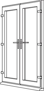 Zendow Neo French Door - F1 Open Out