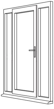 Zendow Neo Residential Door - R6 Open In