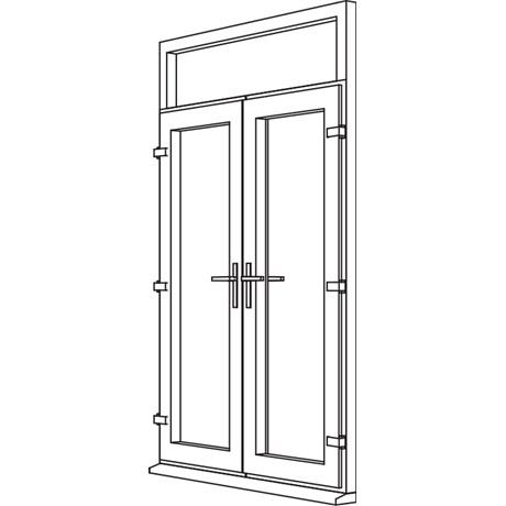 Zendow Neo French Door - F2 Open In