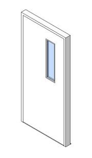 External Single Door, Vision Panel Style VP01