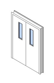 Internal Double Door, Vision Panel Style VP01