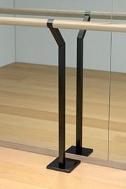 Floor-mounted Double Retro-fit Ballet Barre Bracket