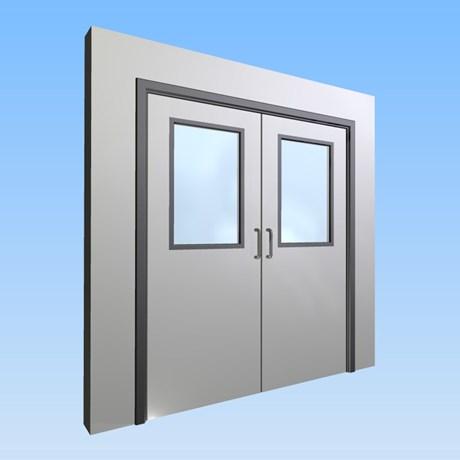 CS Acrovyn® Impact Resistant Doorset - Double with type VP1 Vision Panels