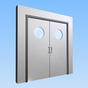 CS Acrovyn® Impact Resistant Doorset - Double with type VP6 Vision Panels